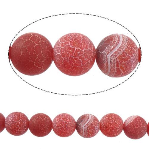 Achat perlas Edelstein piedra natural rojo natural effloresce 6mm aproximadamente 18stk r121