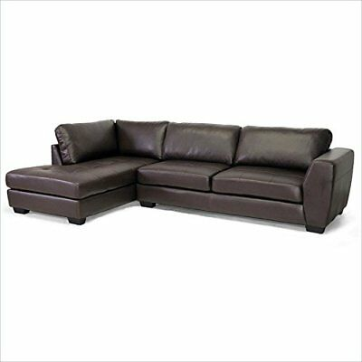 Super Orland Leather Modern Sectional Sofa Set With Left Facing Chaise Brown Ebay Bralicious Painted Fabric Chair Ideas Braliciousco