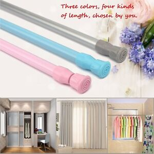 Telescopic Net Voile Tension Curtain Rail Pole Rods Extendable Spring Loaded FFF