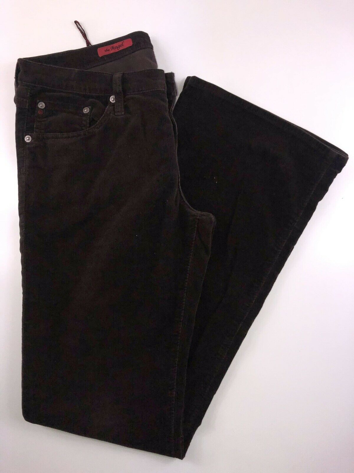 Adriano goldschmied Angel Brown Corduroy Bootcut Jeans 31R. 31x32x9x20 .