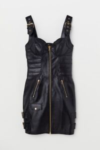 Moschino-for-H-amp-M-Leather-Dress-Size-0