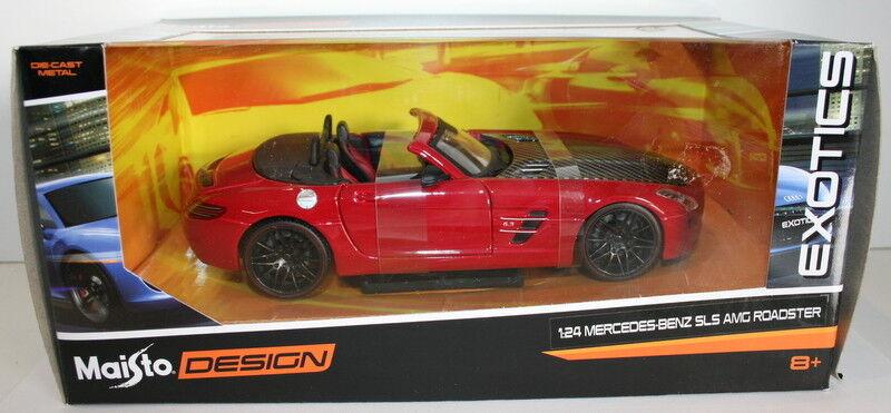 Maisto Exotics 1 24 Scale 31370 - Mercedes Benz SLS AMG Roadster - Red