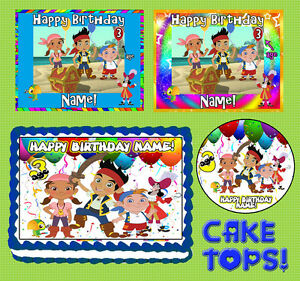Miraculous Jake And The Neverland Pirates For Birthday Cake Topper Edible Funny Birthday Cards Online Inifodamsfinfo