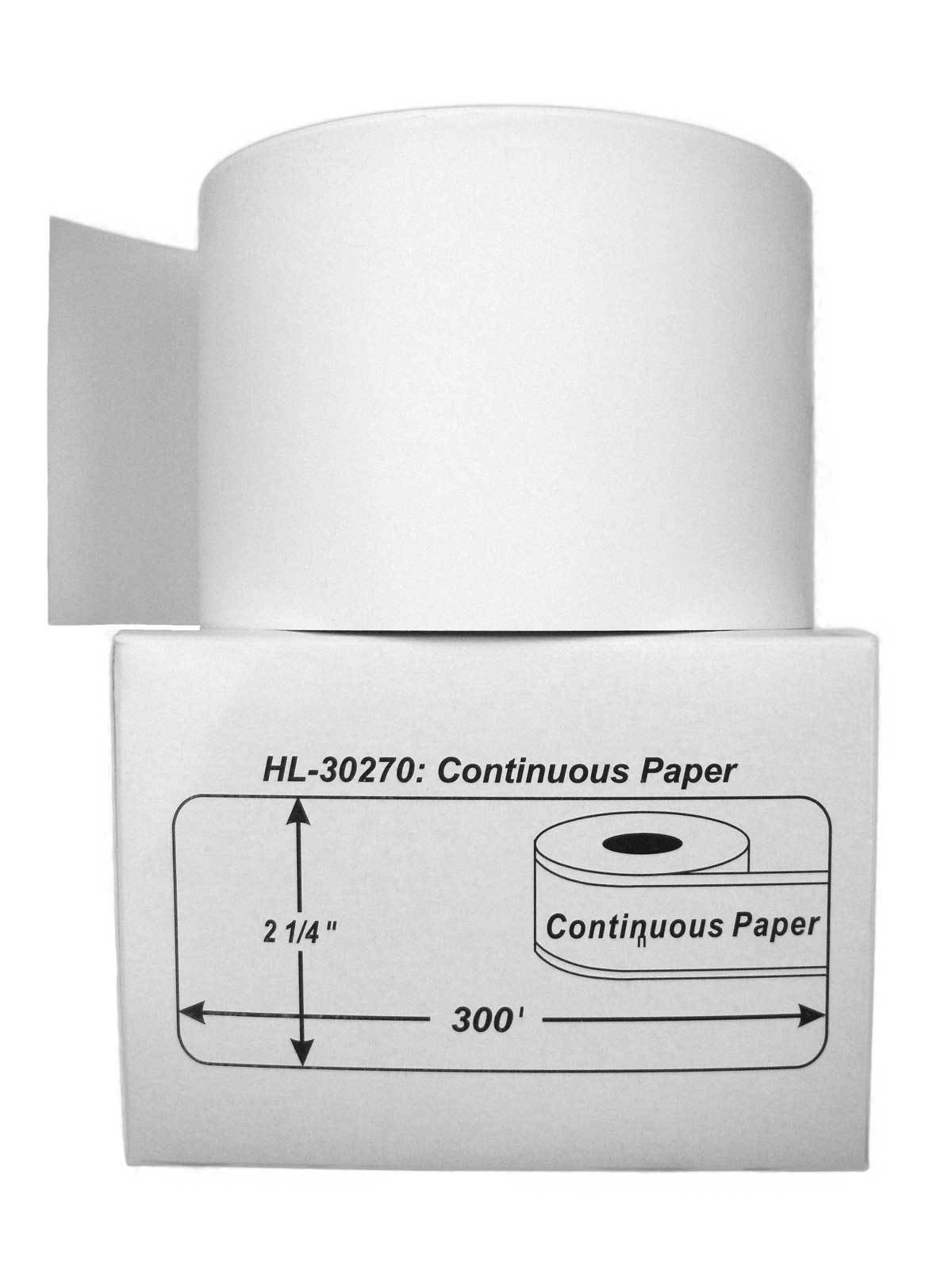 50 Rolls of Continuous Receipt Paper for DYMO LabelWriters 30270