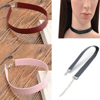90's Women Girl Gothic Beauty Velvet Leather Collar Choker Necklace Punk Jewelry