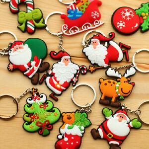4Pcs-Cute-Santa-Claus-Key-Chains-Silicone-Christmas-Key-Ring-Christmas-Gift