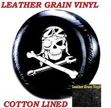 """LINED VINYL Spare Wheel Tire Soft Cover 27"""" Honda CRV Mechanical Pirate Skull"""