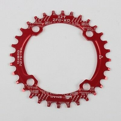 42T Tooth Chain SNAIL Bike Narrow Wide Round Oval Chainring Ring 104mm BCD 32T