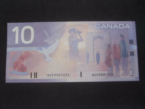 Canada 2004 BC-63c $10 bank Note BER 9085034  Choice  Un-Circulate or better