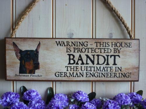 Personnalisé doberman signe dobie chien signe maison plaque doberman pinscher signes