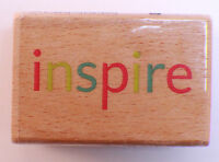 Inspire Word Quote Writing Studio Wooden Rubber Stamp