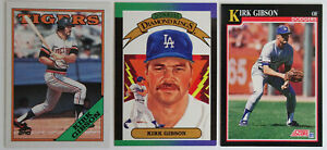 1988-91 Baseball Cards Kirk Gibson Donruss Topps Score Lot of 3 Dodgers