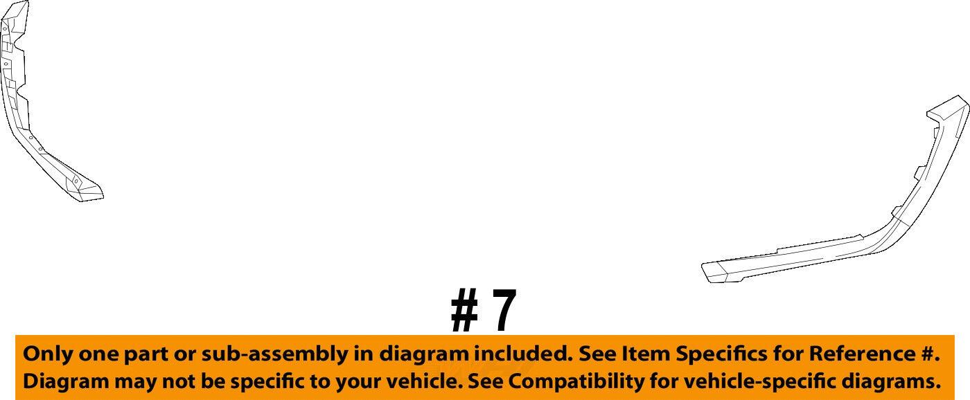 Ram CHRYSLER OEM 15-18 1500-Bumper Trim-Filler Molding 68271570AA