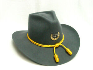 Gray Civil War era style Cavalry hat Size 7 1/2 Wool Felt with gold cord