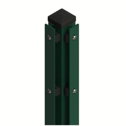 Eckpfosten für Doppelstabmattenzaun 60x60mm inklusive Montagematerial