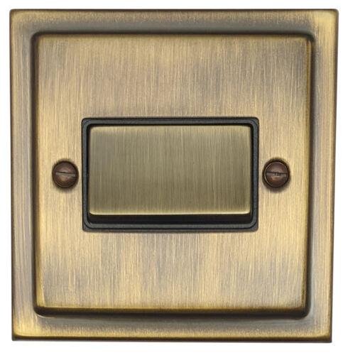 G/&H TAB369 Trimline Plate Antique Bronze Triple Pole 10A Fan Isolator Switch