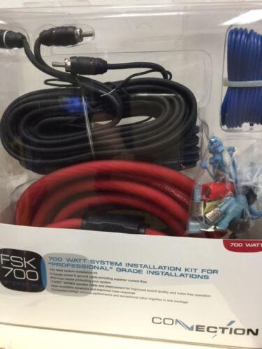 NEW HERTZ FSK 700  700 WATT 4 GAUGE AMP INSTALL KIT RCA SPEAKER WIRE CONNECTION