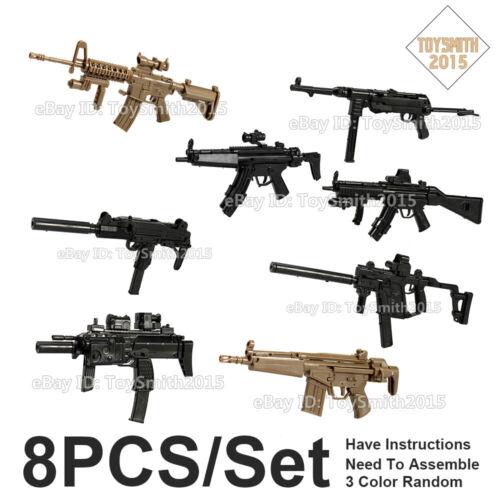 1//6 4D MK18 UZI Vector MP7 40 MP5SD5 HK53 Submachine Gun Rifle Weapon Gun Model