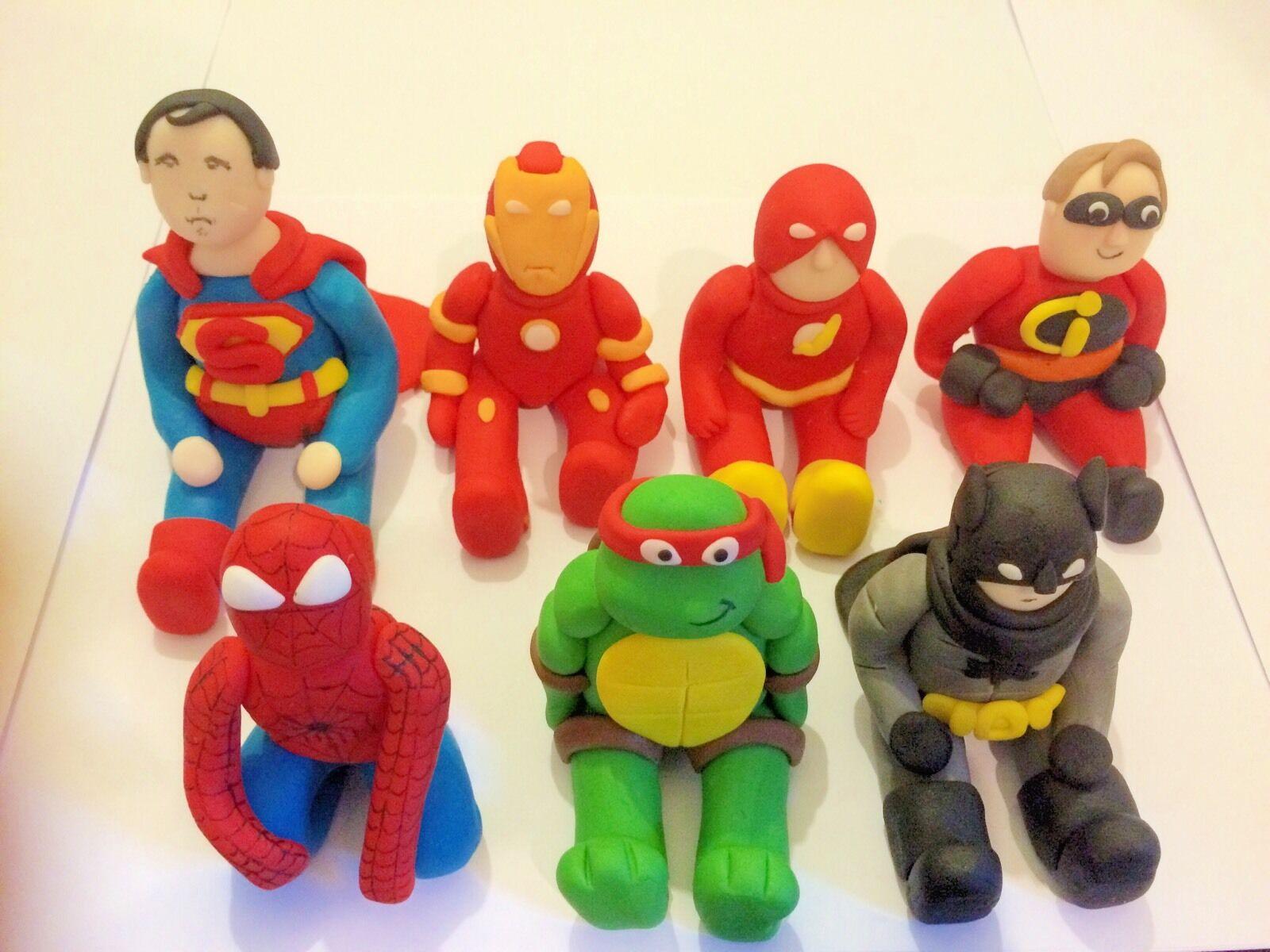 Set Commestibili di supereroi Marvel X7 GLASSA cake topper