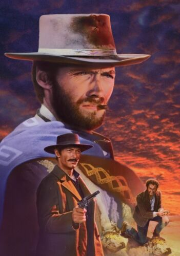 THE GOOD THE BAD AND THE UGLY Movie PHOTO Print POSTER Clint Eastwood Film 003