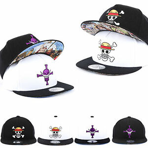 New Unisex Mens Womens One Piece Luffy Skull Mustache Baseball Cap ... dc5160eb17a