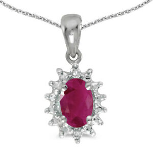 14k-White-Gold-Oval-Ruby-And-Diamond-Pendant-with-18-034-Chain