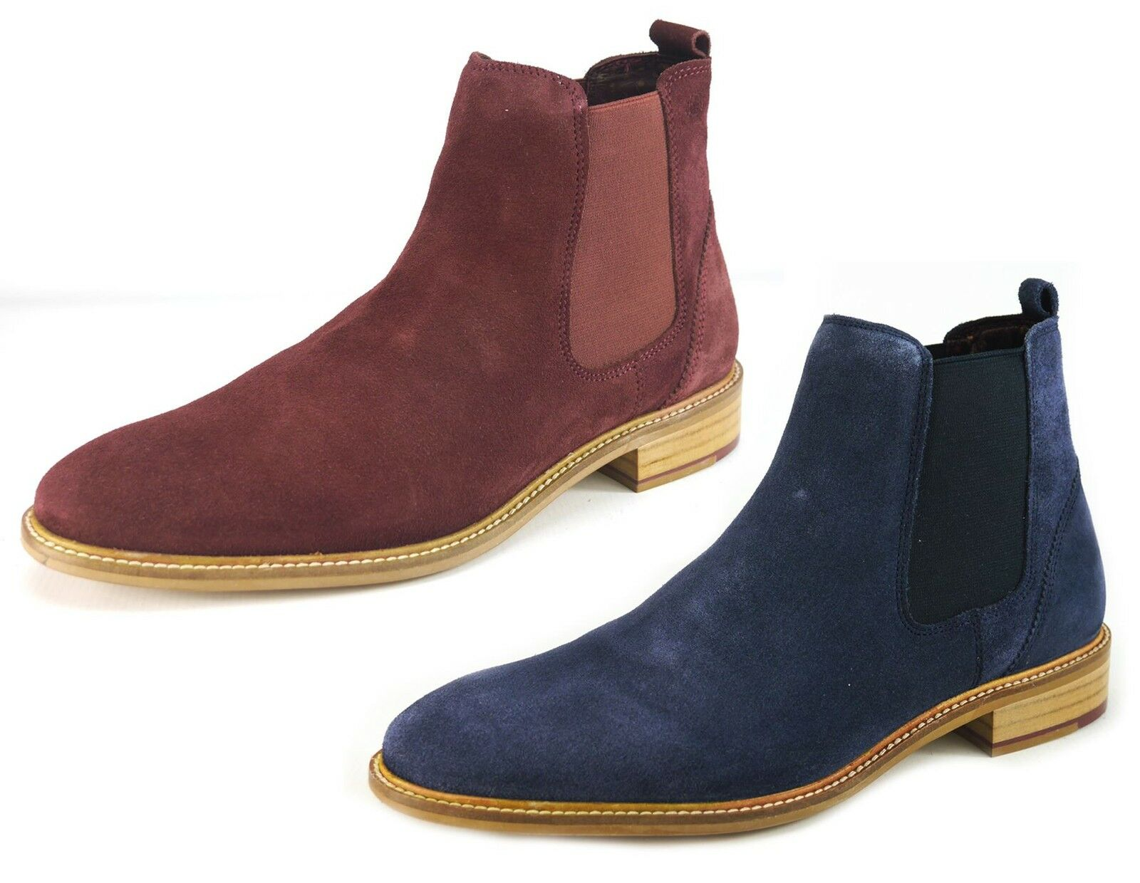 London Pull Brogues Hamilton in Pelle Scamosciata Alla Caviglia Chelsea Pull London On Navy FOLDABLE Borgogna c4fe4c
