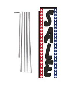 Sale (american) 15' Advertising Rectangle Feather Banner Flag w/ pole+spike