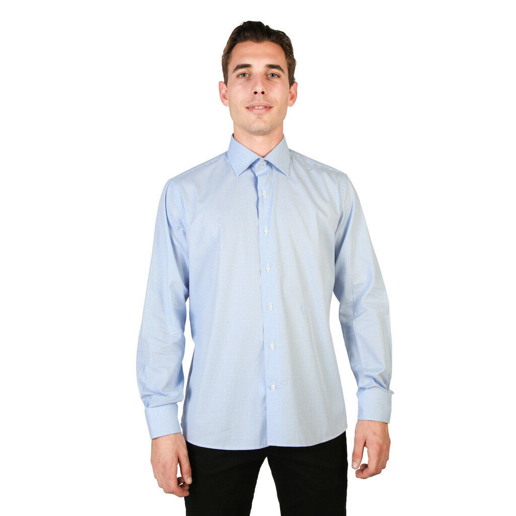 MEN'S SHIRTS TRUSSARDI ART.541 376 APPLE 6625-VI blueE PRICE LIST PRICE