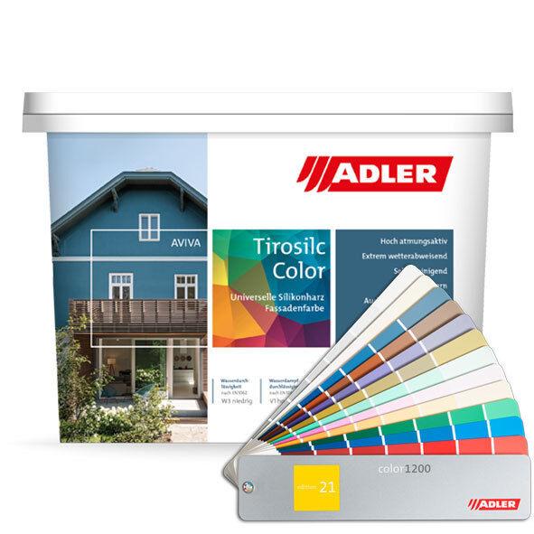 (19.11EUR/1l) ADLER Aviva Tirosilc-Farbe 3l Fassadenfarbe Farbe Außen Fassade