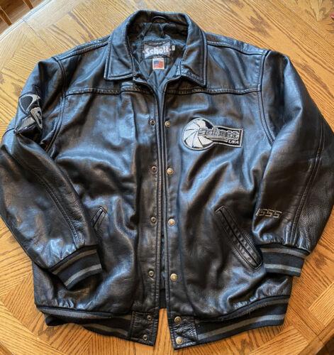 Schott Black Arrow Biker Motorcycle Leather Jacket