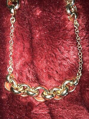 Banana Republic WHite Pink REd Enamel Gold link Chain Layering Necklace NWOT 59