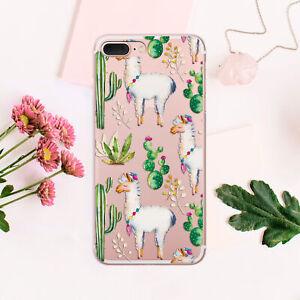 Succulent-iPhone-7-8-Plus-Cover-Llama-iPhone-XR-Case-Alpaca-iPhone-6-6s-Sleeve