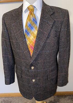 HART SCHAFFNER /& MARX 40S Wool Blazer Suit Jacket Sport Houndstooth Short vintage *Made in Usa* Short 90s Mod Eu 50S top 0s