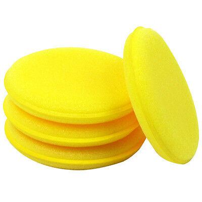 12 Pcs Car Waxing Polish Foam Sponge Wax Applicator Cleaning Detailing Pad 10cm