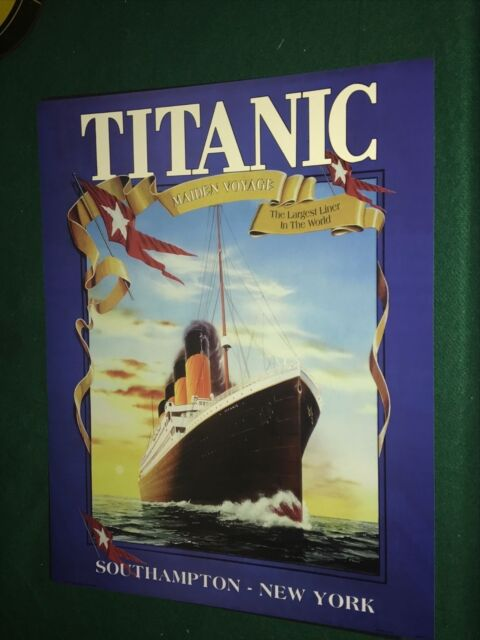 Large Titanic Maiden Voyage Ocean Liner Travel ...