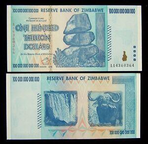 Image Is Loading 1 X Zimbabwe 100 Trillion Dollar Banknote 2008