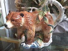 Fitz & Floyd Brown Bear High Sierra Teapot - Exquisite, Long Retired, HTF & New