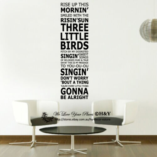"""/""""RISE UP THIS MORNING/"""" Wall Art Quotes Sticker Vinyl Decal Home Decor Removable"""