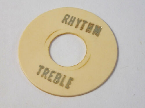 Vintage Relic AGED CREAM 3 Way TOGGLE SWITCH ROUND PLATE RHYTHM//TREBLE Les Paul