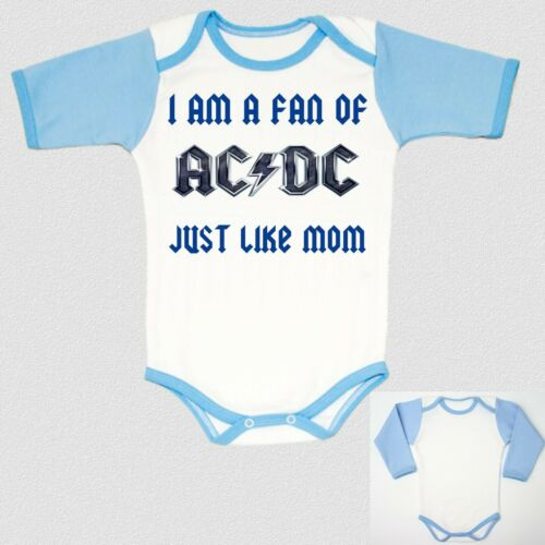 I am a fan ac dc blue just like MOM BLUE baby body infant children boy toddler