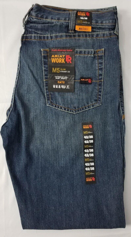 4802a556119 Ariat Western Denim Jeans Mens M5 Slim Straight 42 X 38 Clay ...
