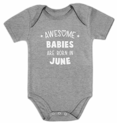 Awesome Babies Are Born In June Birthday Gift Cute Baby Bodysuit Baby Shower