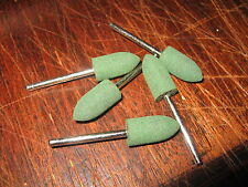 5 Abrasive Rubber Points bits cleaner tarnished Scalextric Triang Track Rail