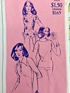 Stretch-amp-Sew-Sewing-Pattern-250-Women-039-s-Tab-Front-Blouse-Top-Cap-Sleeve-Uncut
