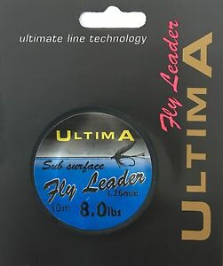 Ultima-Sub-Surface-Fly-Fishing-Leader-Material-50m-Spools-Sizes-2-5lb-to-15lb