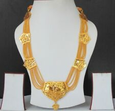 South Indian Jewelry Ethnic Gold Plated Necklace Chain 22k Light Set