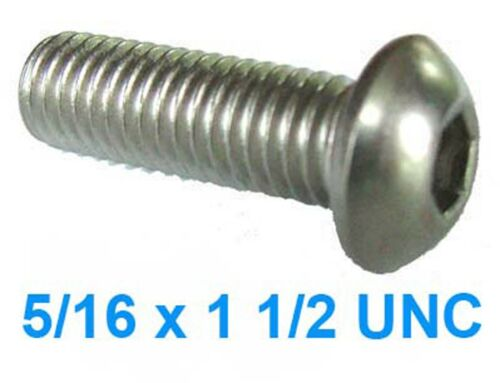 5//16 x 1 1//2 Stainless UNC Socket Button Head x6
