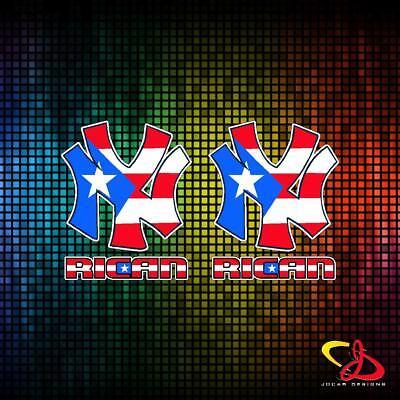 2x PUERTO RICO FLAG FLIP FLOPS VINYL CAR STICKERS DECALS