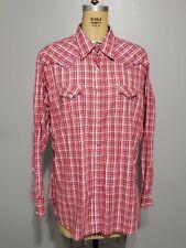 Wrangler Womens Size 3xl Fancy Plaid Pearl Snap Long Sleeve Western Shirt